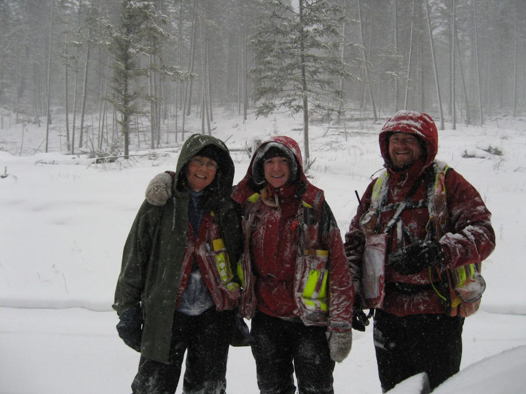 Pioneer Forest Consulting Team in the snow